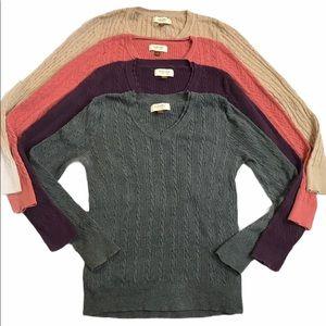 Sonoma M V-Neck Sweaters Bundle